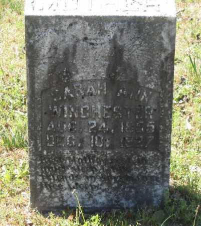 MCCARTHY WINCHESTER, SARAH ANN - Lawrence County, Arkansas | SARAH ANN MCCARTHY WINCHESTER - Arkansas Gravestone Photos