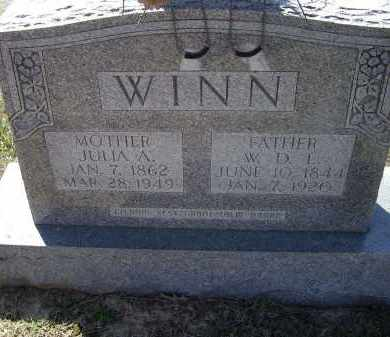 WARD WINN, JULIA A. - Lawrence County, Arkansas | JULIA A. WARD WINN - Arkansas Gravestone Photos