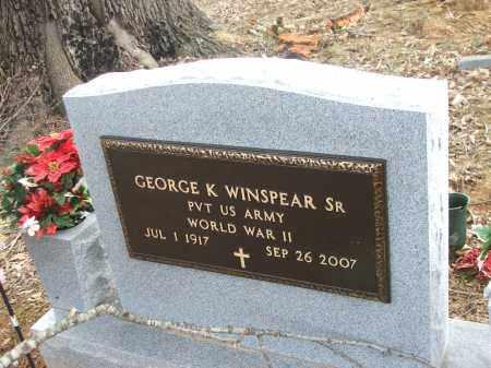 WINSPEAR, SR. (VETERAN WWII), GEORGE K - Lawrence County, Arkansas | GEORGE K WINSPEAR, SR. (VETERAN WWII) - Arkansas Gravestone Photos