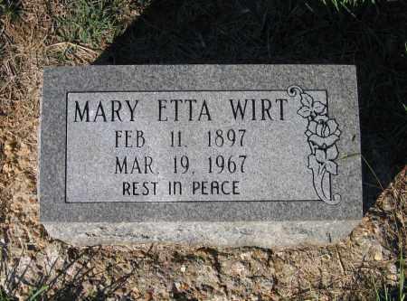DAVIS WIRT, MARY ETTA - Lawrence County, Arkansas | MARY ETTA DAVIS WIRT - Arkansas Gravestone Photos