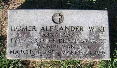 WIRT (VETERAN WWI), HOMER ALEXANDER - Lawrence County, Arkansas | HOMER ALEXANDER WIRT (VETERAN WWI) - Arkansas Gravestone Photos