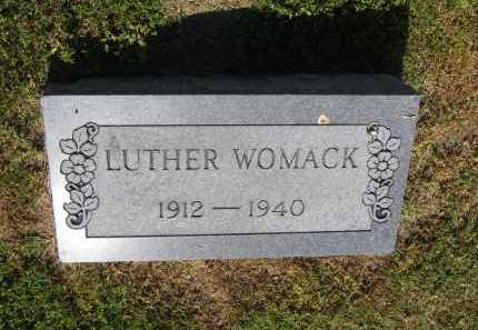 WOMACK, LUTHER - Lawrence County, Arkansas   LUTHER WOMACK - Arkansas Gravestone Photos