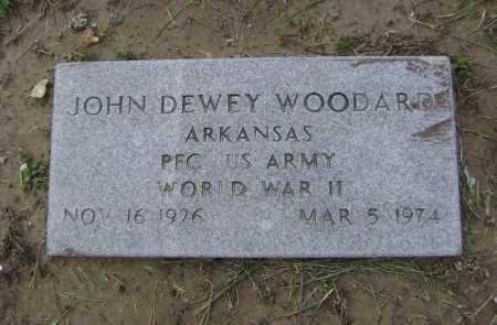 WOODARD  (VETERAN WWII), JOHN DEWEY - Lawrence County, Arkansas | JOHN DEWEY WOODARD  (VETERAN WWII) - Arkansas Gravestone Photos