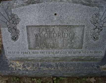 WOOLDRIDGE, FAYLA JUNE - Lawrence County, Arkansas | FAYLA JUNE WOOLDRIDGE - Arkansas Gravestone Photos