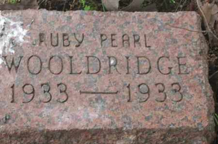WOOLDRIDGE, RUBY PEARL - Lawrence County, Arkansas | RUBY PEARL WOOLDRIDGE - Arkansas Gravestone Photos