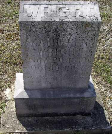 WRIGHT, KATHLEEN - Lawrence County, Arkansas | KATHLEEN WRIGHT - Arkansas Gravestone Photos
