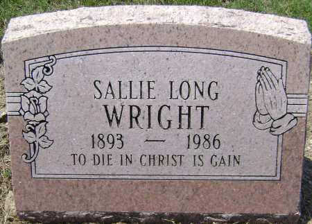 LONG WRIGHT, SALLIE - Lawrence County, Arkansas | SALLIE LONG WRIGHT - Arkansas Gravestone Photos
