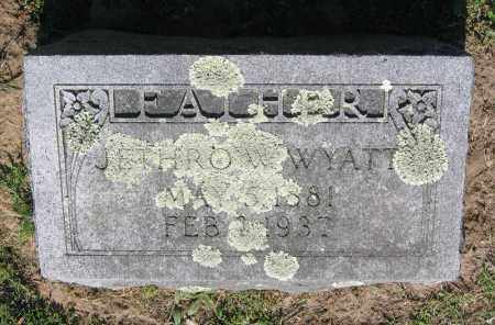 WYATT, JETHRO W. - Lawrence County, Arkansas | JETHRO W. WYATT - Arkansas Gravestone Photos