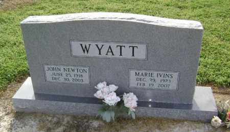 WYATT (VETERAN WWII), JOHN NEWTON - Lawrence County, Arkansas | JOHN NEWTON WYATT (VETERAN WWII) - Arkansas Gravestone Photos