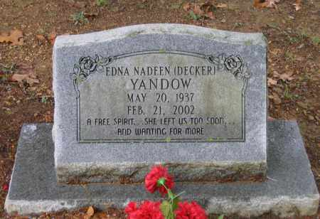 DECKER YANDOW, EDNA NADEEN - Lawrence County, Arkansas | EDNA NADEEN DECKER YANDOW - Arkansas Gravestone Photos
