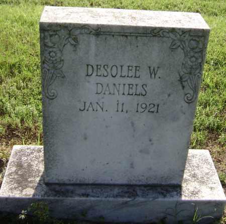DANIELS, DESOLEE W. - Lawrence County, Arkansas   DESOLEE W. DANIELS - Arkansas Gravestone Photos