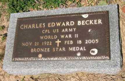 BECKER (VETERAN WWII), CHARLES EDWARD - Lee County, Arkansas | CHARLES EDWARD BECKER (VETERAN WWII) - Arkansas Gravestone Photos