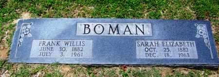 BOMAN, SARAH ELIZABETH - Lee County, Arkansas | SARAH ELIZABETH BOMAN - Arkansas Gravestone Photos