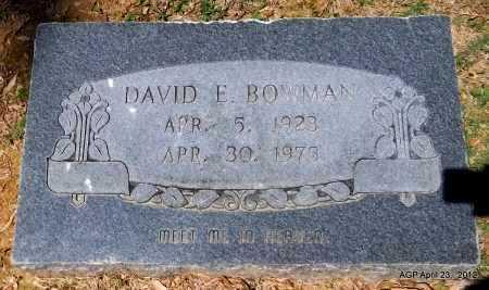BOWMAN, DAVID E - Lee County, Arkansas | DAVID E BOWMAN - Arkansas Gravestone Photos