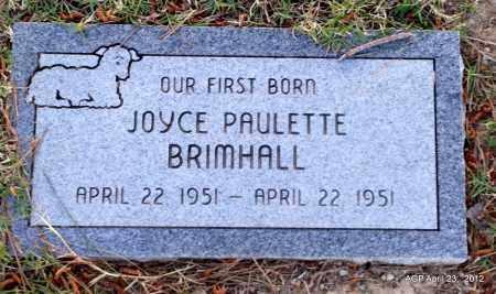 BRIMHALL, JOYCE PAULETTE - Lee County, Arkansas | JOYCE PAULETTE BRIMHALL - Arkansas Gravestone Photos