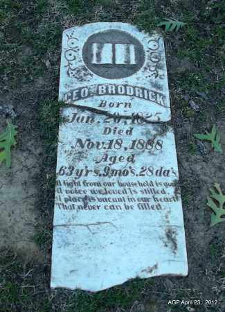 BRODRICK, GEO - Lee County, Arkansas | GEO BRODRICK - Arkansas Gravestone Photos