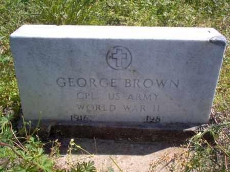 BROWN (VETERAN WWII), GEORGE - Lee County, Arkansas   GEORGE BROWN (VETERAN WWII) - Arkansas Gravestone Photos