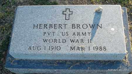 BROWN (VETERAN WWII), HERBERT - Lee County, Arkansas | HERBERT BROWN (VETERAN WWII) - Arkansas Gravestone Photos