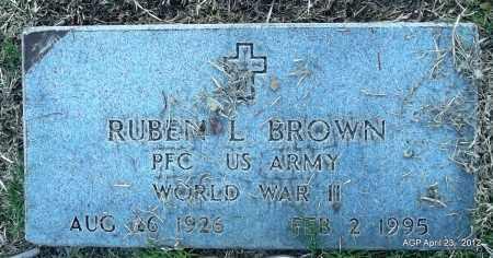 BROWN (VETERAN WWII), RUBEN L - Lee County, Arkansas   RUBEN L BROWN (VETERAN WWII) - Arkansas Gravestone Photos