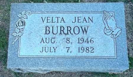 BURROW, VELTA JEAN - Lee County, Arkansas | VELTA JEAN BURROW - Arkansas Gravestone Photos