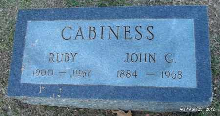 CABINESS, RUBY - Lee County, Arkansas   RUBY CABINESS - Arkansas Gravestone Photos