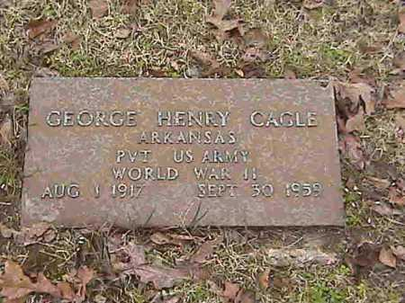 CAGLE  (VETERAN WWII), GEORGE HENRY - Lee County, Arkansas | GEORGE HENRY CAGLE  (VETERAN WWII) - Arkansas Gravestone Photos