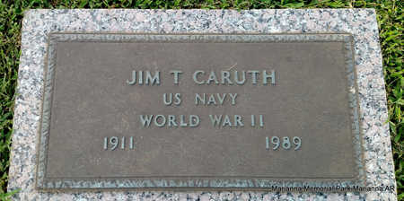 CARUTH (VETERAN WWII), JIM T - Lee County, Arkansas   JIM T CARUTH (VETERAN WWII) - Arkansas Gravestone Photos