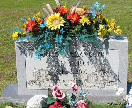 CUPP, ANTHONY ALLAN - Lee County, Arkansas   ANTHONY ALLAN CUPP - Arkansas Gravestone Photos