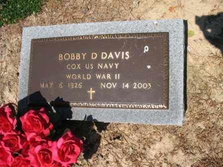 DAVIS (VETERAN WWII), BOBBY D - Lee County, Arkansas   BOBBY D DAVIS (VETERAN WWII) - Arkansas Gravestone Photos
