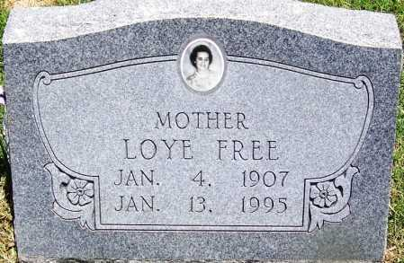 FREE, LOYE - Lee County, Arkansas | LOYE FREE - Arkansas Gravestone Photos