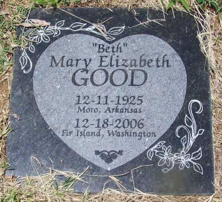 "GOOD, MARY ELIZABETH ""BETH"" - Lee County, Arkansas | MARY ELIZABETH ""BETH"" GOOD - Arkansas Gravestone Photos"