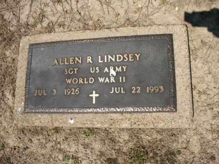 LINDSEY (VETERAN WWII), ALLEN R - Lee County, Arkansas   ALLEN R LINDSEY (VETERAN WWII) - Arkansas Gravestone Photos
