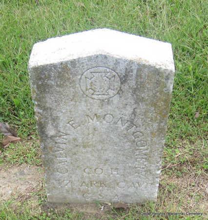 MONTGOMERY (VETERAN CSA), CALVIN E - Lee County, Arkansas   CALVIN E MONTGOMERY (VETERAN CSA) - Arkansas Gravestone Photos