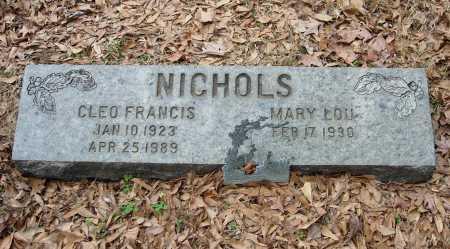NICHOLS, CLEO FRANCIS - Lee County, Arkansas   CLEO FRANCIS NICHOLS - Arkansas Gravestone Photos