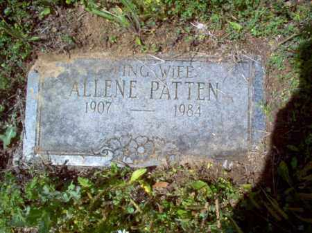 PATTEN, ALLENE - Lee County, Arkansas | ALLENE PATTEN - Arkansas Gravestone Photos