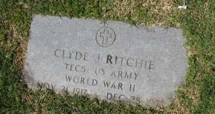 RITCHIE (VETERAN WWII), CLYDE J - Lee County, Arkansas | CLYDE J RITCHIE (VETERAN WWII) - Arkansas Gravestone Photos