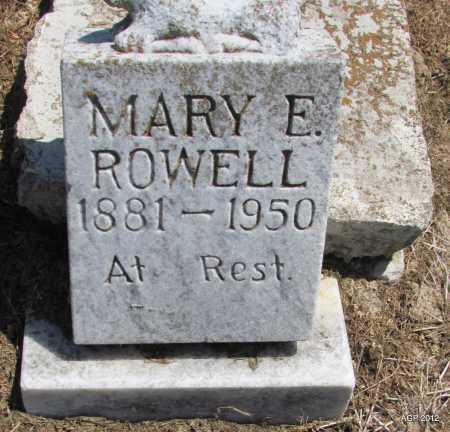 ROWELL, MARY E - Lee County, Arkansas | MARY E ROWELL - Arkansas Gravestone Photos
