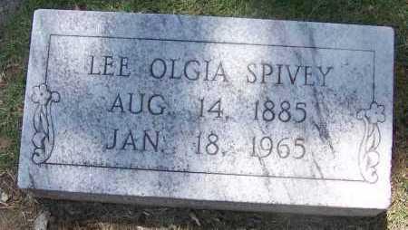 SPIVEY, LEE OLGIA - Lee County, Arkansas | LEE OLGIA SPIVEY - Arkansas Gravestone Photos