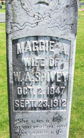SPIVEY, MAGGIE A (CLOSE UP) - Lee County, Arkansas   MAGGIE A (CLOSE UP) SPIVEY - Arkansas Gravestone Photos
