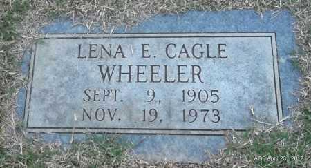CAGLE WHEELER, LENA E - Lee County, Arkansas | LENA E CAGLE WHEELER - Arkansas Gravestone Photos