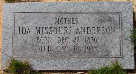 ANDERSON, IDA MISSOURI - Lincoln County, Arkansas   IDA MISSOURI ANDERSON - Arkansas Gravestone Photos
