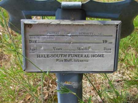 BENNETT, SR, THOMAS HARDY - Lincoln County, Arkansas | THOMAS HARDY BENNETT, SR - Arkansas Gravestone Photos