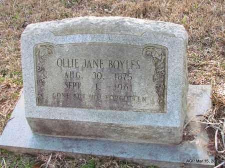 BURTON BOYLES, OLLIE JANE - Lincoln County, Arkansas | OLLIE JANE BURTON BOYLES - Arkansas Gravestone Photos