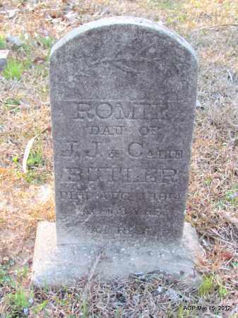 BUTLER, ROMER - Lincoln County, Arkansas | ROMER BUTLER - Arkansas Gravestone Photos