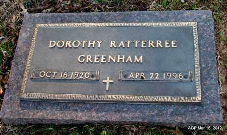 GREENHAM, DOROTHY - Lincoln County, Arkansas | DOROTHY GREENHAM - Arkansas Gravestone Photos