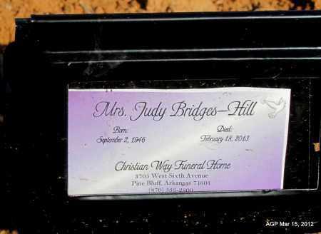 BRIDGES HILL, JUDY - Lincoln County, Arkansas   JUDY BRIDGES HILL - Arkansas Gravestone Photos