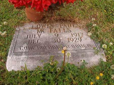 MCFALLS, EDWIN PAUL - Lincoln County, Arkansas   EDWIN PAUL MCFALLS - Arkansas Gravestone Photos