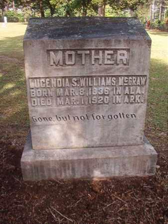 WILLIAMS MCGRAW, LUCENDIA S - Lincoln County, Arkansas | LUCENDIA S WILLIAMS MCGRAW - Arkansas Gravestone Photos