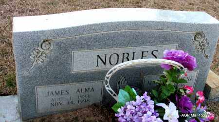 NOBLES, JAMES ALMA - Lincoln County, Arkansas | JAMES ALMA NOBLES - Arkansas Gravestone Photos