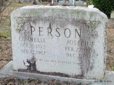 PERSON, JOSEPH F - Lincoln County, Arkansas | JOSEPH F PERSON - Arkansas Gravestone Photos